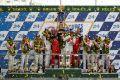 24-Stunden-Rennen von Le Mans 2012 - Siegerpodest mit Audi