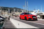 Audi RS3 Sportback Test - Seite Ansicht seitlich Monaco Yacht Hafen