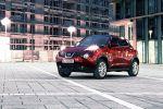 Nissan Juke Test - Seite Ansicht seitlich Licht an rot