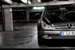 Mercedes CLS 500 Test - Front Ansicht vorne Kühlergrill Frontscheinwerfer Stoßstange