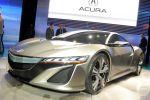 Acura Honda NSX Concept Hybrid V6 Benziner Elektromotor Sport Hybrid SH AWD Super Handling All Wheel Drive Allrad Front Seite Ansicht