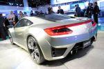 Acura Honda NSX Concept Hybrid V6 Benziner Elektromotor Sport Hybrid SH AWD Super Handling All Wheel Drive Allrad Heck Ansicht
