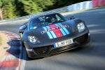 Porsche 918 Spyder Spider Supersportwagen Nürburgring Nordschleife Plug-in-Hybrid Elektromotor V8 Weissach Paket Marc Lieb Front