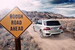 Mercedes-Benz ML 63 AMG Test - Heck Ansicht hinten silber Rückleuchten Kofferraum Deckel Klappe Auspuff Endrohre
