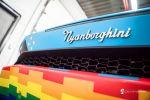 deadmau5 deadmouse deadmou5 Nyanborghini Purracan Lamborghini Huracan Nyan Cat Regenbogenkatze Miau Katze Kirsch Pop Tart Sekanskin Fahrzeugfolierung Car Wrapper Heck