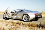 Jaguar C-X75 Hybrid Supersportwagen Elektromotor Heck Seite Ansicht