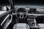 Audi Q5 2017 quattro Allrad Kompakt SUV TDI TFSI Turbo V6 Tiptronic S tronic Doppelkupplungsgetriebe Offroad MMI Virtual Cockpit Infotainment Internet WLAN LTE Audi Connect Smartphone App Connect Konnektivität Drive Select Interieur Innenraum Cockpit