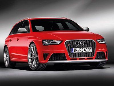 Audi RS4 Avant 2012 Front Ansicht von vorne rot
