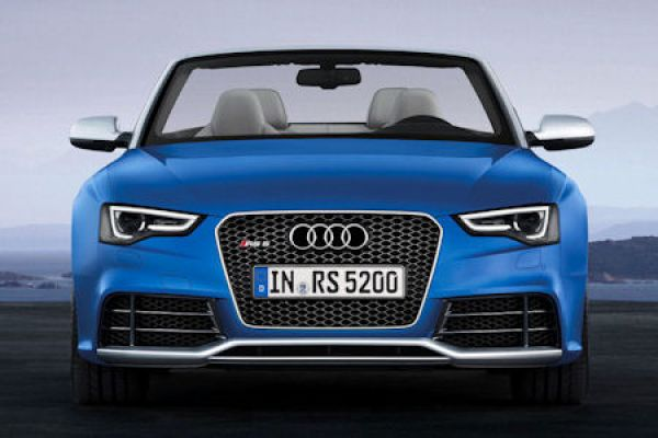 audi rs 5 cabrio hei es topmodell oben ohne speed heads. Black Bedroom Furniture Sets. Home Design Ideas