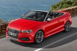 Audi S3 Cabriolet A3 2.0 TFSI Turbo quattro Allrad Sportversion Kompaktsportler Stoffverdeck S tronic Launch Control Drive Select Comfort Auto Dynamic Individual MMI Touch Navigation plus WLAN Internet ACC Adaptive Cruise Control Active Lane Assist Pre Sense Front Seite