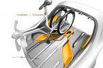 Smart For-Us Pickup Electric Drive EV Vehicle Elektroauto Sketch Ladefläche Ansicht