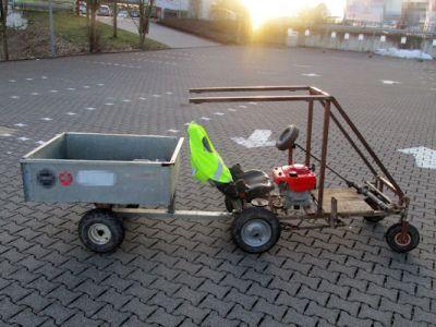 Autobau Kinder Jugendliche selbstgebautes Auto Rasenmähermotor Bremse Kupplung Lenkung