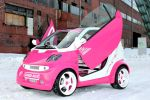 Speed-Box Smart Fortwo Pink Rosa Brabus LSD Blue Company Raid Schmidt Revo Space Front Seite Ansicht