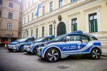 BMW i3 Polizei Elektroauto Elektromotor E-Maschine München Bayern Connected Rescue Signalanlage RTK 7 Anhalte Flash Yelp Anhaltesignal Druckkammerlautsprecher Seite
