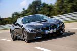 BMW i8 2015 Sportwagen Plug-in-Hybrid Elektromotor Dreizylinder Benziner Pure Impulse Experience Programm BMW i Pure Impulse Card Carpo Carumgrau Front