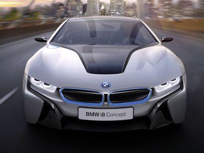 BMW i8 Concept Sportwagen Plug In Hybrid EfficientDynamics Elektromotor Dreizylinder Benziner Life Drive Streamflow Eco Pro Connectivity Smartphone Mobile App Last Mile Navigation Intermodale Routenplanung Next Premium