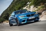 BMW M2 Coupe F87 Sportwagen Kompaktsportler 3.0 TwinPower Turbo Reihensechszylinder M DKG Doppelkupplungsgetriebe Drivelogic Connected Drive Driving Assistant Smartphone Internet App Front Seite