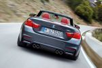 BMW M4 Cabrio F83 2014 Performance Sportwagen Sportler 3.0 TwinPower Turbo Reihensechszylinder Air Curtain Air Breather Carbon Drivers Package Launch Control Smokey Burnout Stability Clutch Control DSC Laptimer App Driving Assistant Plus Connected Drive Heck