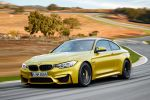 BMW M4 Coupe 2014 Performance Sportwagen Sportler 3.0 TwinPower Turbo Reihensechszylinder Air Curtain Air Breather Carbon Drivers Package Launch Control Smokey Burnout Stability Clutch Control DSC Laptimer App Driving Assistant Plus Connected Drive Front Seite