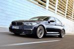 BMW M550i xDrive G30 5er 2017 v8 Twinturbo Biturbo Twinscroll Turbolader Allradantrieb Sportfahrwerk BMW Connected Infotainment Smartphone App Fahrassistenten Fahrerassistenzsysteme Front Seite