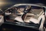BMW Vision Future Luxury 9er Luxuslimousine Laserlicht OLED Air Breather Driver Information Display Connected Drive Internet iDrive Touchpad Interieur Innenraum Fond