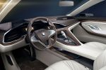 BMW Vision Future Luxury 9er Luxuslimousine Laserlicht OLED Air Breather Driver Information Display Connected Drive Internet iDrive Touchpad Interieur Innenraum Cockpit