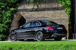 Brabus Mercedes-AMG C 63 S w205 PowerXtra B40 4.0 V8 Biturbo Tuning Leistungssteigerung Auspuffanlage Abgasanlage Monoblock Räder Felgen Heck Seite
