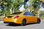 Brabus Rocket 900 Desert Gold Edition Mercedes-AMG S 65 S-Klasse W222 Limousine V12 Biturbo Zwölfzylinder Tuning Leistungssteigerung Aerodynamik Kit Carbon Airmativ Sport Unit Monoblock Platinum Edition Räder Felgen Heck Seite