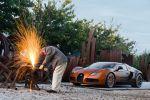 Bugatti Veyron Grand Sport 8.0 W16 Cabrio Bernar Venet Formel Art Car Front Seite Ansicht