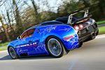 Cam-Shaft Bugatti Veyron Sang Noir 8.0 V16 Folierung Chromblau Heck Seite Ansicht