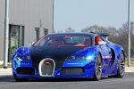 Cam-Shaft Bugatti Veyron Sang Noir 8.0 V16 Folierung Chromblau Front Ansicht