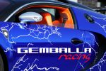 Cam-Shaft Bugatti Veyron Sang Noir 8.0 V16 Folierung Chromblau Seite Tür