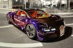 Cam-Shaft Bugatti Veyron Sang Noir 8.0 V16 Folierung Chromblau Front Seite Ansicht