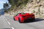 Mansory Ferrari 458 Spider Monaco Edition - Heck Ansicht hinten in Fahrt Rückleuchten Heckschürze Rückleuchten