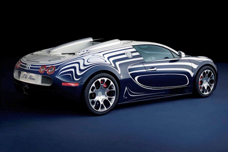 Bugatti Veyron Grand Sport L Or Blanc Porzellan Auf Speed