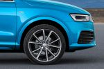 Audi Q3 Faceilft 2015 Kompakt SUV Offroad TFSI TDI S tronic quattro Allrad Drive Select MMI Navigation plus Audi Connect WLAN Internet Smartphone DCC ESC EDS Side Assist Active Lane Assist Spurhalteassistent Einparkassistent Spurwechselassistent Rad Felge