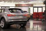 Audi Design Strategie Atelier Produktdesign Crosslane Coupe Concept Crossover Carbon CFK GFK Multimaterial Spaceframe Heck Ansicht