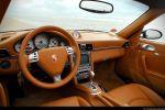 Porsche 997 Turbo Cabrio Test - Lenkrad Innenraum Cockpit Sitze