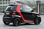 Smart Fortwo Sharpred Rot Dreizylinder Turbo CDI Passion Softouch Heck Seite Ansicht