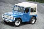 suzuki lj80 eljot test 4x4 allradantrieb geländewagen offroader suv fun car vierzylinder benziner light jeep differentialsperre hinterachssperre probefahrt fahrbericht review front seite