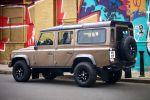 Land Rover Defender 2011 X-Tech Limited Edition Nara Bronze 110 Station Wagon Offroad Heck Seite Ansicht