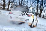 Opel Adam R2 Concept - Ansicht Heck von hinten im Schnee Drift Drifting