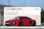 Rekord Nürburgring Nordschleife Audi R8 e-tron Sportwagen Elektroauto Elektromotor Markus Winkelhock Front Seite Ansicht
