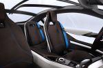 BMW i8 Concept Sportwagen Plug In Hybrid EfficientDynamics Elektromotor Dreizylinder Benziner Life Drive Streamflow Eco Pro Connectivity Smartphone Mobile App Last Mile Navigation Intermodale Routenplanung Next Premium Interieur Innenraum Sitze