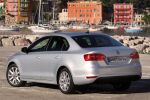 VW Jetta VI Test - Heck Ansicht von hinten Seite seitlich Rückleuchten silber