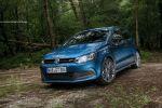 VW Polo BlueMotion GT Test - Front Ansicht vorne seitlich Seite Felgen blau Scheinwerfer Türen A B C Säule