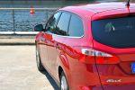 Ford Focus Turnier Test - Heck Ansicht von hinten Rückleuchte rot