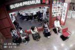 Nissan ProPilot autonom fahrender Stuhl Japan Restaurant Sushi Bar Schlange Wartezeit