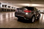 BMW X6 35d Test - Heck Seite Ansicht hinten seitlich Heckleuchte Rücklicht Scheinwerfer