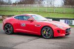 Jaguar F-Type R Coupé V8 Kompressor Prinz HRH His Royal Highness Prince Harry von Wales Goodwood Motor Circuit West Sussex Rennstrecke Seite
